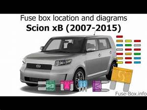 2010 Scion Xb Fuse Box Diagram : fuse box location and diagrams scion xb 2007 2015 youtube ~ A.2002-acura-tl-radio.info Haus und Dekorationen