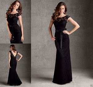 long black bridesmaid dresses memory dress With long black dress for wedding