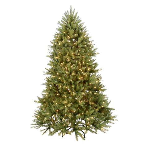 7 5 ft christmas tree with 1000 lights home accents holiday 7 5 ft pre lit dunhill fir hinged