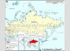 Where is Moscow Location of Moscow in Russia Map