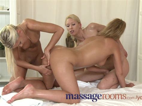 Massage Rooms Raunchy Lesbian Threesome After Sensual Oil