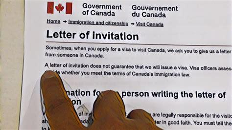 canada invitation letter  sponsor sponsorship