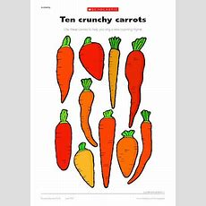 Ten Crunchy Carrots  Early Years Teaching Resource Scholastic