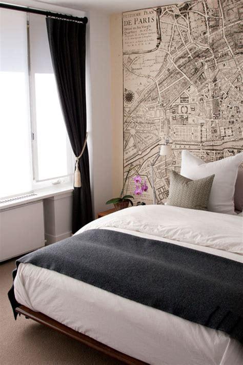retro bedroom wallpaper vintage map wallpaper contemporary bedroom