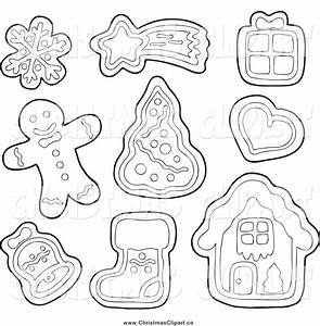 Christmas Cookies Clip Art Black And White – Merry ...