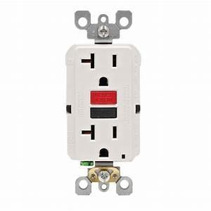 Prise 20 Ampere : leviton 20 amp 125 volt duplex self test gfci outlet ~ Premium-room.com Idées de Décoration