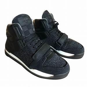 Sneakers Louis Vuitton Homme : baskets homme louis vuitton sneakers cuir noir ~ Nature-et-papiers.com Idées de Décoration