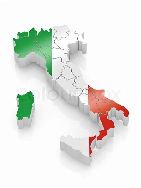 flags italian flag map stock map of italy in italian flag colors stock photo colourbox flag