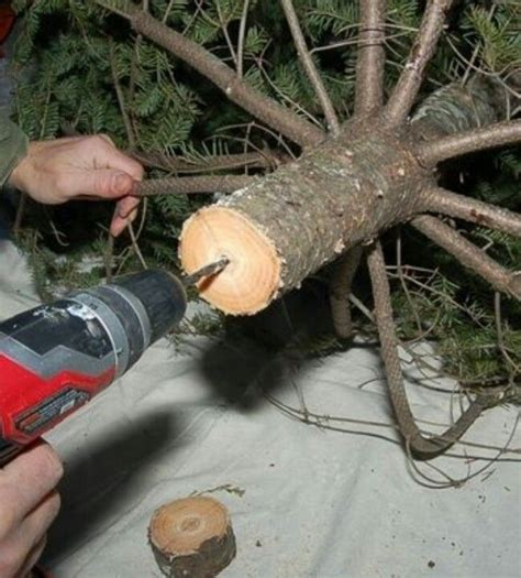 drilling holes in christmas tree 25 best ideas about real tree on hacks decorations and