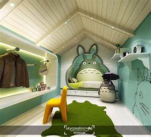Totoro Themed Bedroom How Artificial Grass Gain The