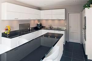 cuisine moderne photo 2 5 purete du blanc design du With idee deco cuisine avec cuisine Équipée en bois moderne