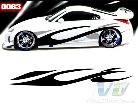 Flame Style 63 Vinyl Vehicle Graphic Kit