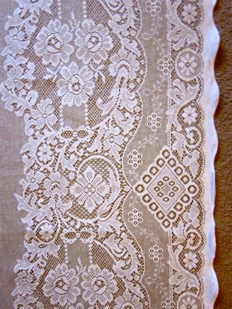 style white cotton lace curtain panel 1