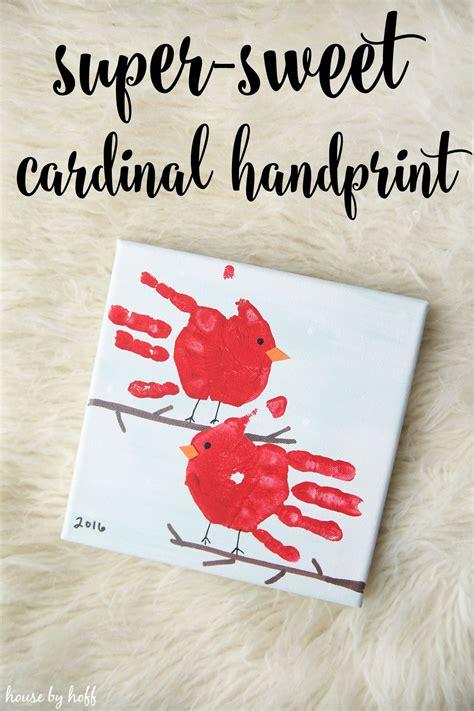 super sweet cardinal handprint gift winter crafts