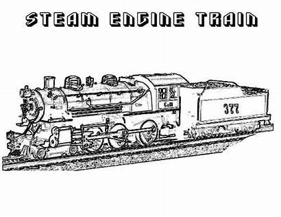 Steam Train Coloring Engine Pages Colouring Railroad