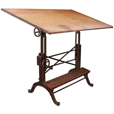 wood and iron desk vintage industrial cast iron and wood frederick post