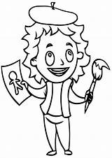 Artist Coloring Pages Artist1 sketch template