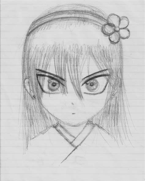 Scary Anime Girl Drawing Easy