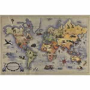 Carte Du Monde Sticker : stickers autocollants pour tete de lit carte du monde pour chambre ~ Dode.kayakingforconservation.com Idées de Décoration