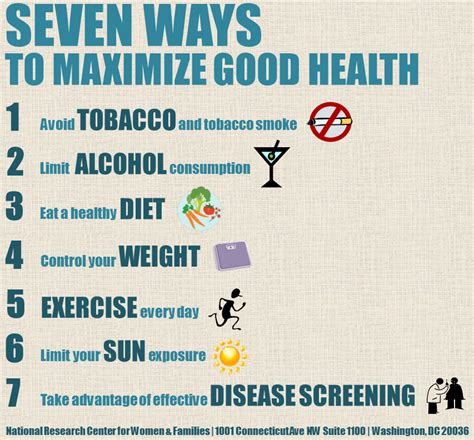 Seven Ways To Maximize Good Health  Nchr Backup Site 426
