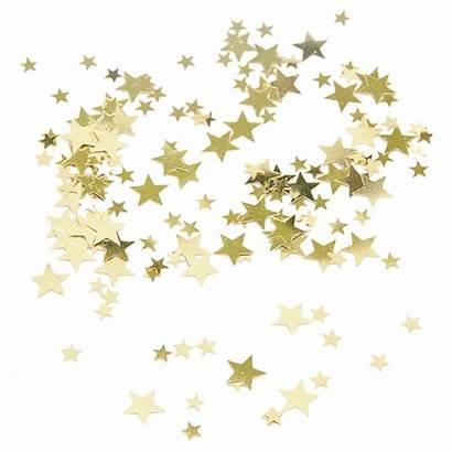 Confetti Stars Transparent Clipart Clip Confeti Oro