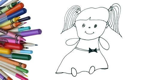 draw  cute doll  kids easy  simple doll