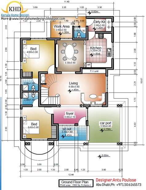 1500 sf house plans 1500 square house plans in kerala home deco plans