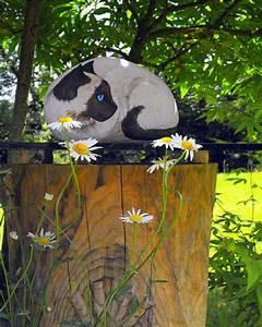 Steine Bemalen Katze : steinfiguren f r den garten basteln zum gestalten des outdoor bereichs ~ Watch28wear.com Haus und Dekorationen