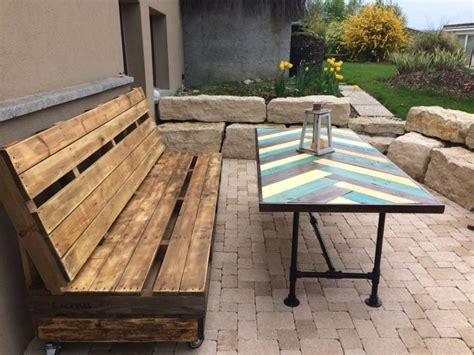 fabrication canap palette bois salon de jardin palette bois fabrication avantages
