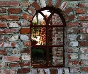 Fenster Mit Rundbogen : eisenfenster stallfenster mit rundbogen fenster f r eine gartenmauer v 98 x 54 ebay ~ Markanthonyermac.com Haus und Dekorationen