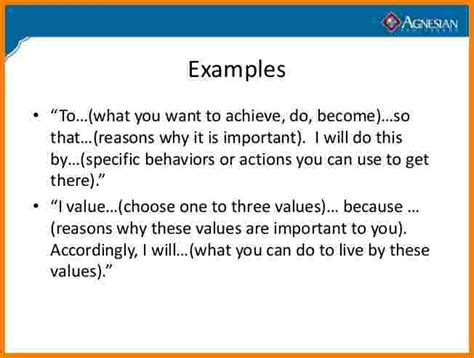 fitness mission statement examples case statement