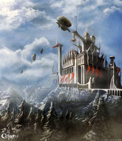 fantasy castles  castle art paintings