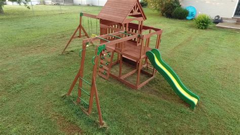 Backyard Discovery  Monticello Cedar Swing Set Youtube