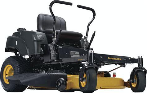 turn mower zero poulan pro money