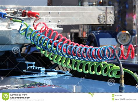 colorful truck air lines stock  image