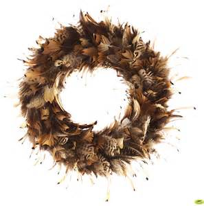 pheasant feather wreath natural feather wreaths holiday decor feather products