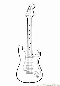 guitar cut out template - guitar cut out pattern free printable coloring page