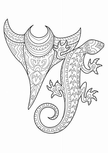 Coloring Tattoo Adults Tattoos Polynesian Polynesien Coloriage