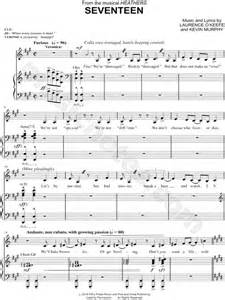 """""""Seventeen"""" from 'Heathers (Musical)' Sheet Music in F#"""