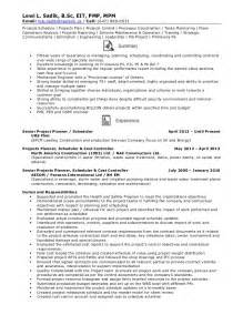 production planning resume exle resume senior projects planner schedule