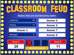 family feud powerpoint template classroom game With free powerpoint game templates for teachers