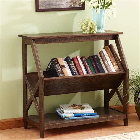 built   tilt book nook bookcase woodworking plan