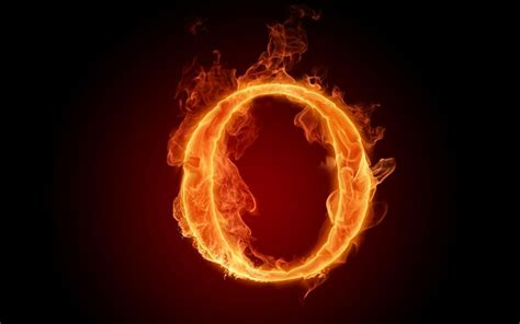 Fiery English Alphabet Letter O, Black, Cool, English, Fiery, Fire, Hot, Letter, O, Orange, Red