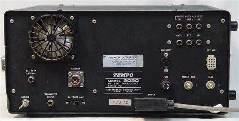 Tempo 2020 Hf Transceiver 80, 40, 20, 15 And 10 Meters Cw