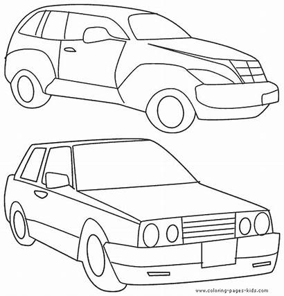 Coloring Pages Transportation Cars Transport Printable Land