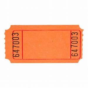 Orange Blank Ticket Roll - Tickets & Wristbands - Amols ...
