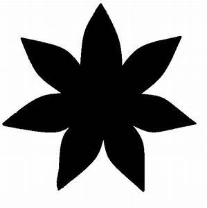 Five Petal Flower Template Seven Petal Flower Template Clipart Best