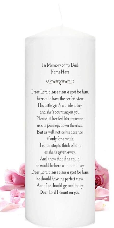 memory   deceased parent  grandparent  wedding day  memory wedding candle