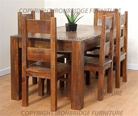 rustic dining room table and chairs marceladick
