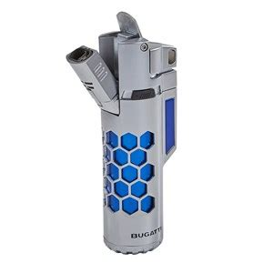 Windproof twin torch flames make this the perfect lighter for lighting just about anything. Bugatti Mirage Dual Torch Lighter - Cigars International